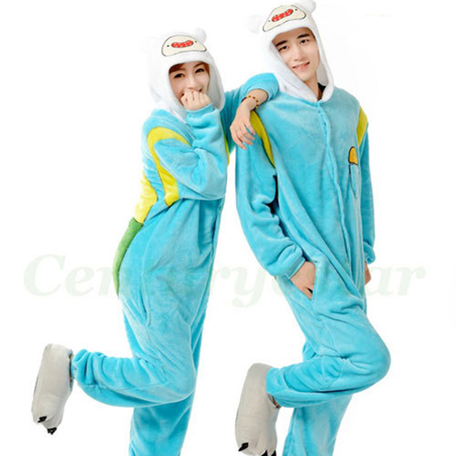 Anime Pajamas Adventure Time With Finn And Jake Cosplay animal adult onesie fantasias halloween costumes for  sc 1 st  AliExpress.com & Anime Pajamas Adventure Time With Finn And Jake Cosplay animal adult ...