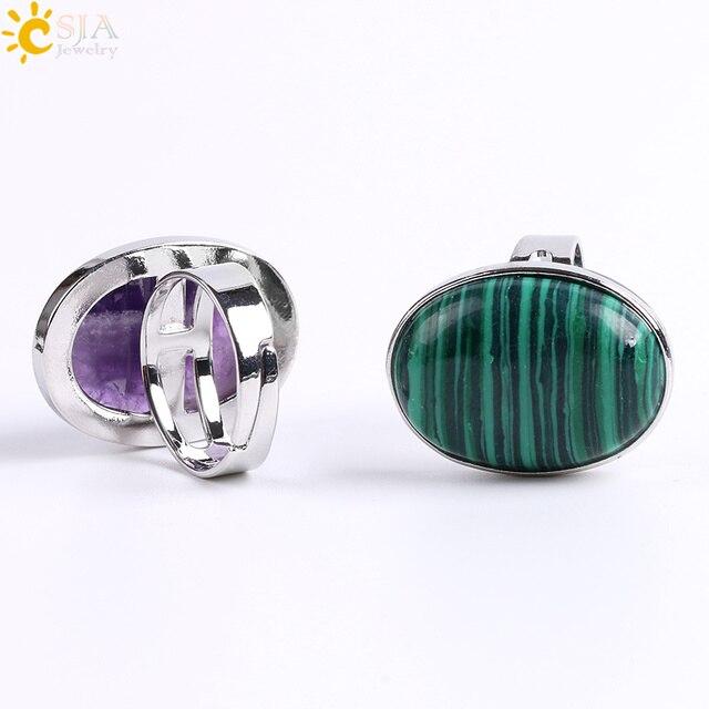 Фото кольцо csja reiki с натуральным драгоценным камнем для мужчин цена