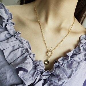Image 4 - LouLeur 925 sterling silver nieregularna klamra wisiorek naszyjnik złoty wiatr przemysłowy kreatywny naszyjnik dla kobiet biżuterii prezent