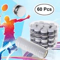 60Pcs Replacement Anti slip Racket Overgrip Sport Sweatband Badminton Grip Tennis Racket Squash Racquet Tape Grips Accessories