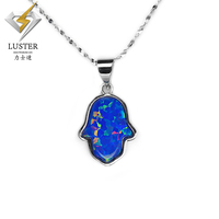 Bright luster Hot sale indian hamsa opal white gold making pendant necklace jewelry