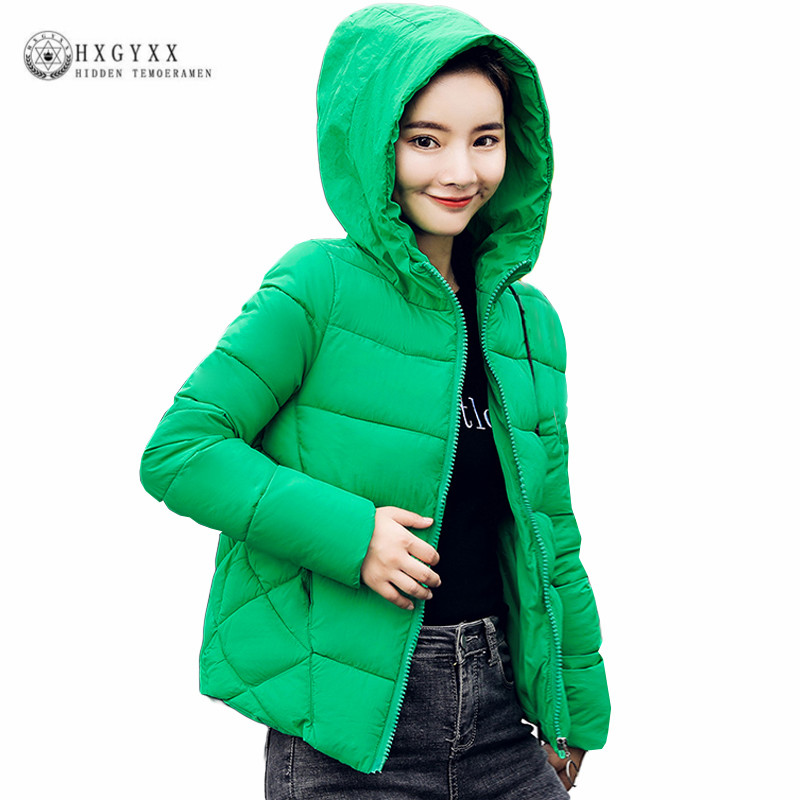 Quilted Jacket Winter Woman Clothing Slim Warm Hooded   Parka   Female Coat 2019 Solid Plus Size Zipper Short Cotton Outwear Okd362