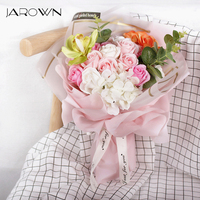 JAROWN Simulation Rose Soap Flower Gift Box Birthday Gift Valentine's Day Wedding Romantic Creative Gift Flores Home Decoration