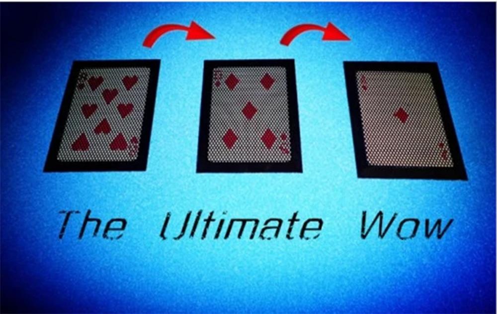 WOW 3.0 les tours de magie WOW ultime carte spéciale magicien gros plan Illusions Gimmick accessoires mentalisme changer deux fois carte Magia