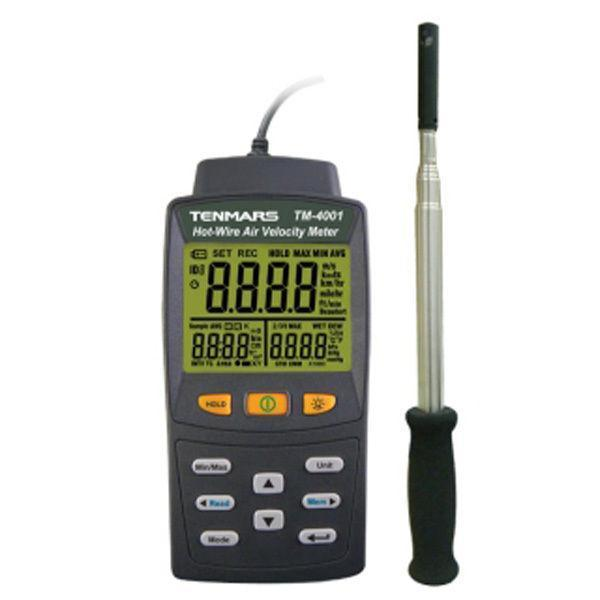 Digital Hot Wire Anemometer Air Flow volume font b Calculation b font Temperature Humidity