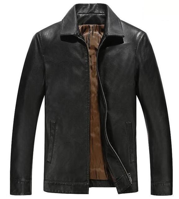 Новые Осенние и зимние мужские кожаные куртки и пальто Деловой случай искусственной кожи куртка для мужчин уютный теплый одежда