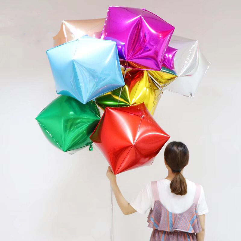 Ballons & Accessories Analytical 20pcs/lot 40*40*40cm Cube Foil Balloons Four Square Rose Gold Red Christmas New Years Party Gifts Box Helium Balloon Decoration