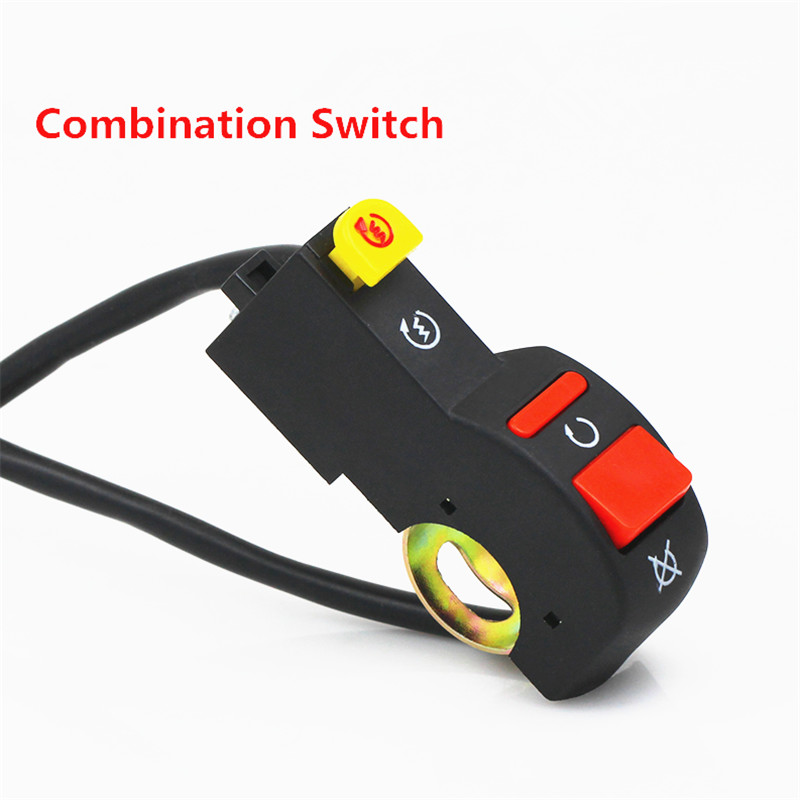 Motorcycle double flash switch electric car turn signal switch brake power switch Motorbike accessories dangerous lights switch