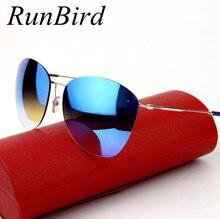 Мода 2016 New Vintage Оправы Очки Женщин Бренд Дизайнер Ретро Солнцезащитные Очки Покрытие Sunglass Oculo De Sol Feminino R104