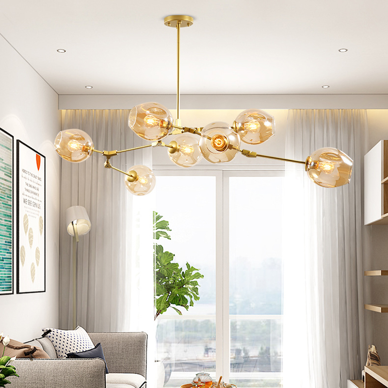 Persönlichkeit Kreative Dendrimer Stil Decke Licht Nordic Moderne Designer Glas E27 Decke Lampe Kunst Dekoration Bar Cafe Lampe