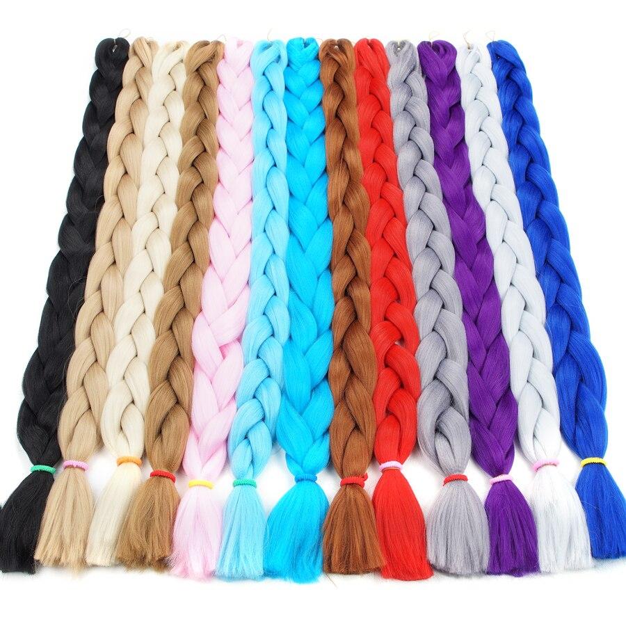 Bling Hair Syntetisk Braiding Hårförlängningar Kanekalon 82inch - Syntetiskt hår