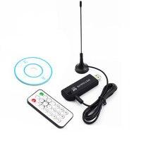 Dijital USB 2.0 TV Çubuk FM DAB DVB-T RTL2832U R820T SDR DAB FM Anten ile HDTV TV Tuner Alıcı Çubuk IR Uzaktan O4