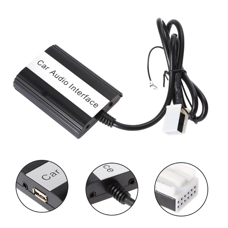 Mains libres De Voiture Bluetooth Kits MP3 Interface Adaptateur AUX Pour VW Audi Skoda 12PIN