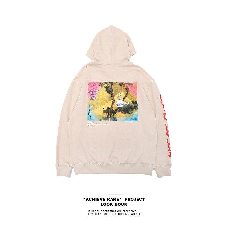 2018 Kanye West Cooperative Collection Kids See Ghosts Print Women Men Hoodies Sweatshirts Hiphop Men Sweatshirt Hoodie Pullover