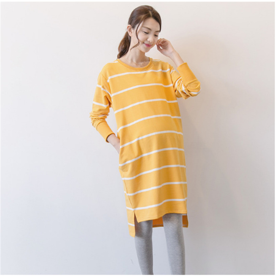 Maternity yellow dresses recommend to wear in spring in 2019