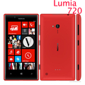 "Original nokia lumia 720 Windows Phone 8 Dual-core 4.3"" 1.0 GHz Camera 6.7MP ROM 8GB 3G Cell phone refurbished"