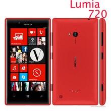 """Оригинальный nokia lumia 720 Windows Phone 8 двухъядерный 4.3 """"1.0 ГГц Камеры 6.7MP ROM 8 ГБ 3 Г Сотовый телефон восстановленное"""