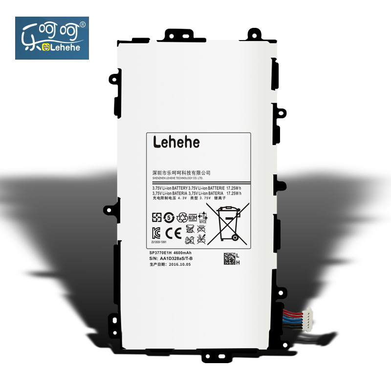LEHEHE Battery For Samsung Tablet Tab Note 8.0 / 510 Note 8 8.0 3G GT-N5100 N5100 SP3770E1H 4600mAh Replacement Free Tools Gifts