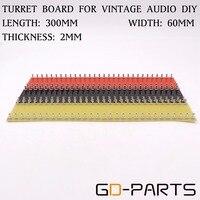 GD-PARTS Rosso Nero Giallo Tag Consiglio Tag Striscia Schede Torrette Terminal Board per DIY Hifi Tubo Vintage Audio Amplificatore per Chitarra 300x60x2mm