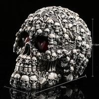 Homosapiens Model Skull Head Figurine Human Shaped Resin Skeleton Halloween Decor Terror Collection
