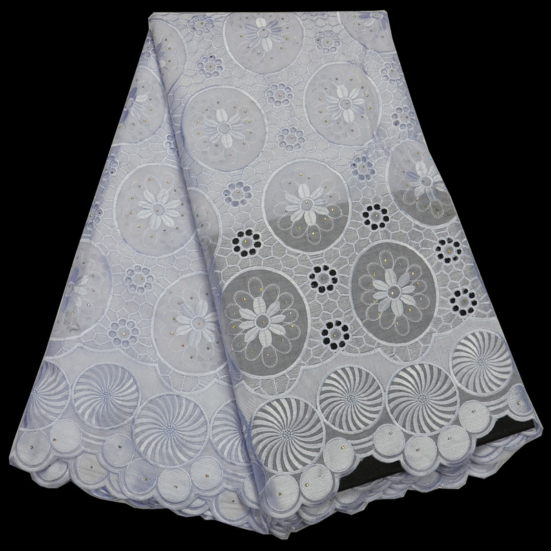 (5yards/pc) high quality African cotton lace fabric pure white Swiss voile lace fabric with embroidery for elegant dress CLP160(5yards/pc) high quality African cotton lace fabric pure white Swiss voile lace fabric with embroidery for elegant dress CLP160