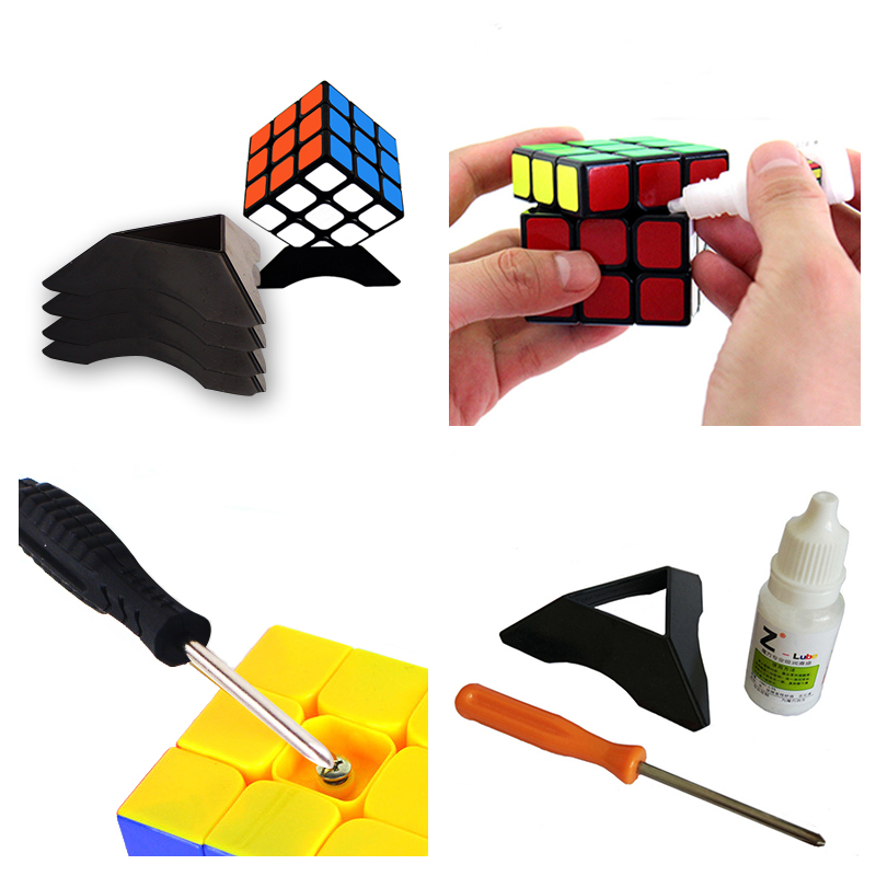 3Pcs/Set Rubiks Cube Grease Cube Accessories Speed Rubber Lubricating Screwdriver Tool Lubricante Base Holder Frame Tool
