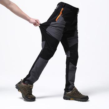 Outdoor Camping wodoodporne spodnie do wędrówek pieszych męskie spodnie taktyczne wspinaczka górska spodnie cienkie wędkarstwo oddychające sportowe długie spodnie tanie i dobre opinie FGHGF Poliester spandex Sznurek Pełnej długości Moc suche W18061603 Camping i piesze wycieczki Pasuje prawda na wymiar weź swój normalny rozmiar