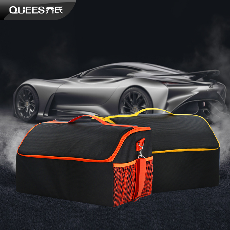 QUEES Collapsible Cargo Trunk Organizer Storage For Car SUV Van Multi Compartments Heavy Duty Non-Slip