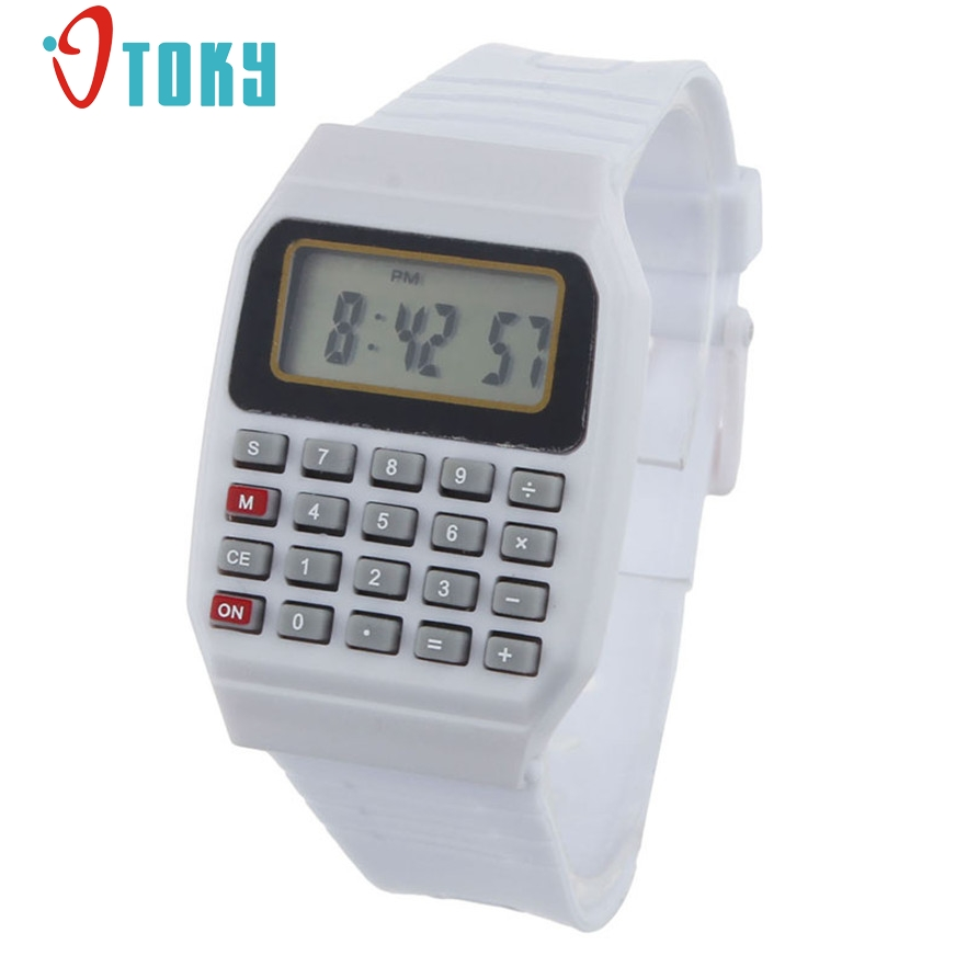 New Arrive Unsex Silicone Multi-Purpose Date Time Electronic Wrist Calculator Watch for women men gift 1pcs
