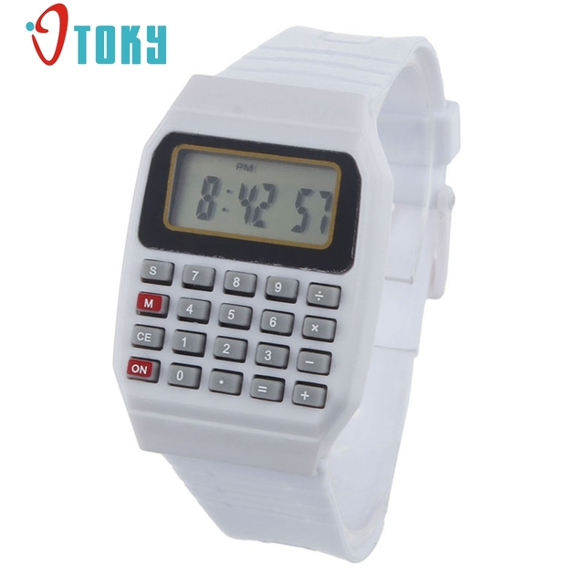 New Arrive Unsex Silicone Multi-Purpose Date Time Electronic Wrist Calculator Wa