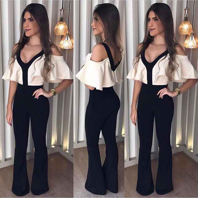35793895bd2 Elegant Off Shoulder Summer Romper Jumpsuit Woman 2018 Party Wide Leg  Bodysuit Woman One Piece Pants