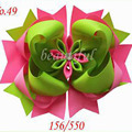Free Shipping 2015 New 10pcs/lot 8'' Grosgrain Ribbon Hair Bows Without Clip,Boutique Hairbow Hair Accessories,Girl Cheer Bow
