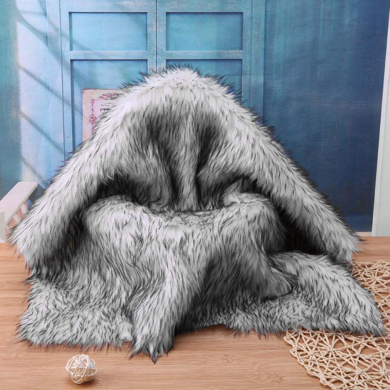 Winter Warm Baby Blankets Carpet Infant Fur Imitation Rug Blanket Newborn Photography Background Props Fotografia Mat 55x50cm