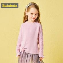 2f3b5b24b89d0 Balabala autunm filles pulls enfant en bas âge fille pull avec arc enfants  vêtements enfants vêtements