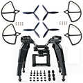 Actualizado Primavera de aterrizaje de patín de montaje de cámara soporte Blad accesorios para Hubsan H501S X4 FPV Drone RC Drone Quadcopter partes
