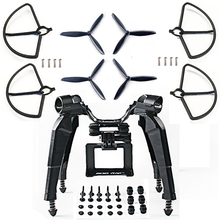 Muelle mejorado de montaje de cámara de deslizamiento, soporte Blad Props Guard para Hubsan H501S X4 FPV RC Drone piezas de repuesto de cuadricóptero