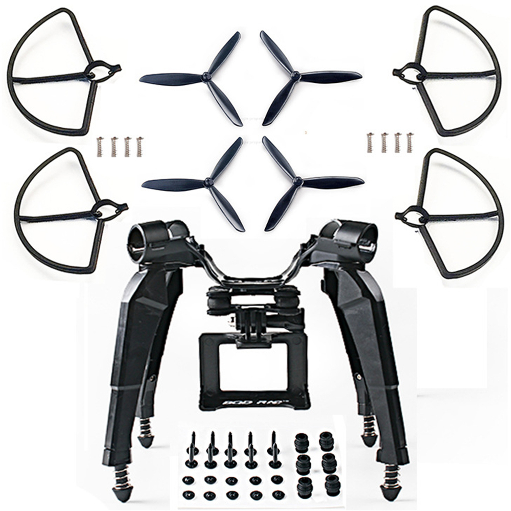 цены Upgraded Spring Landing Gear Skid Camera Mount Bracket Blad Props Guard for Hubsan H501S X4 FPV RC Drone Quadcopter Spare Parts