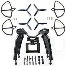 Yükseltilmiş Bahar İniş takımları Skid kamera yatağı Braketi Bıçak Sahne Guard Hubsan H501S X4 FPV RC Drone Quadcopter için Yedek Parça