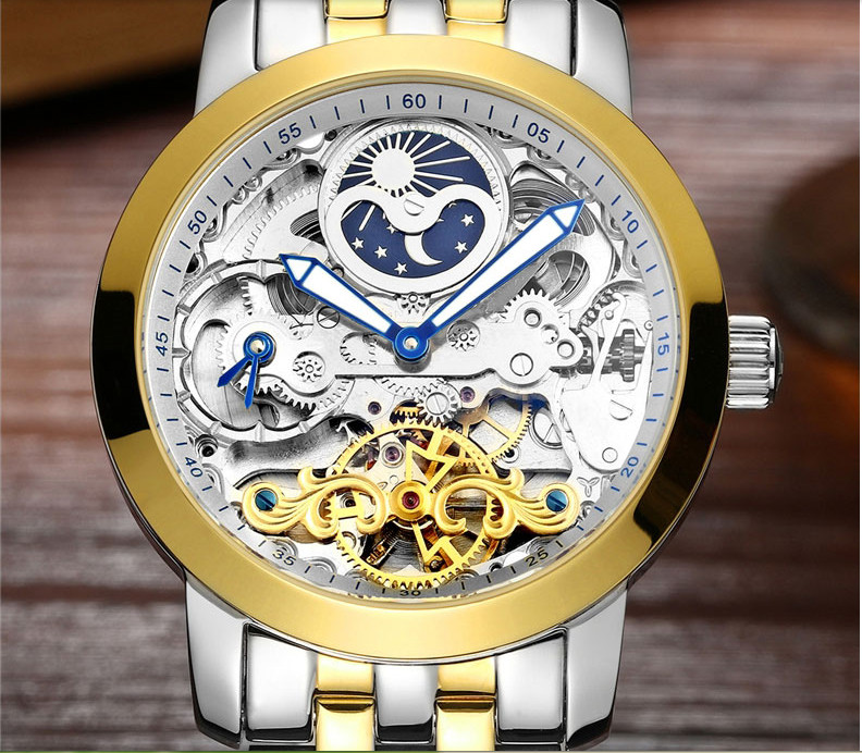 Новый дизайнер прозрачные 3D видимой циферблат AILANG Для мужчин Винтаж Tourbillon часы автоподзаводом платье в деловом стиле наручные часы 316L W028