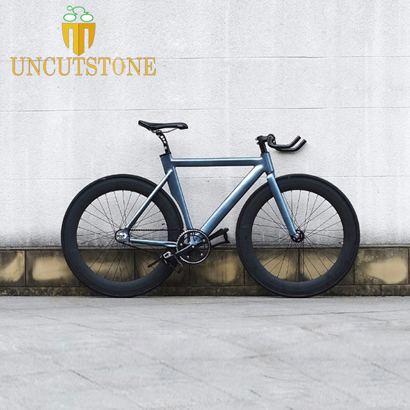 Fixed Gear Bike  55cm  DIY 700C Aluminum Alloy Track Bike Bicycle With 70mm Wheel Rim  700C Bicycle  Smooth Welding Frame