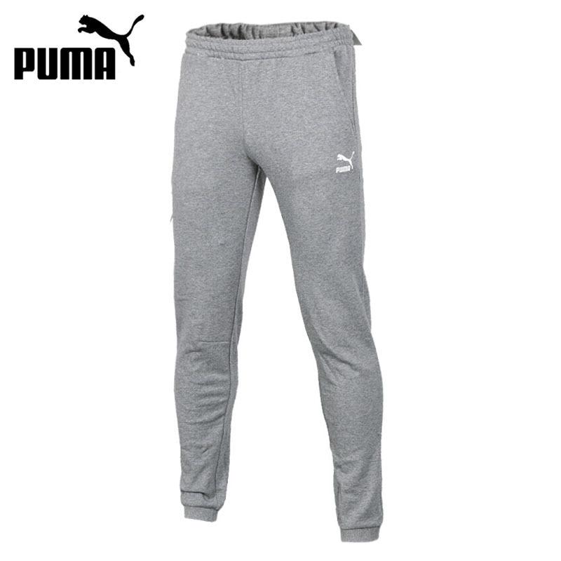 Original New Arrival 2018 PUMA Archive Graphic Rib Pants Men's Pants Sportswear knitted rib cuff zip up graphic cardigan