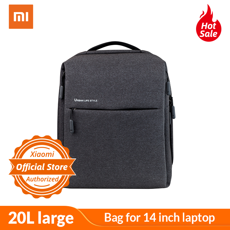 Xiaomi Minimalist City Backpack 20L large capacity Grey Laptop bag for 14 inch laptop Urban Backpacks