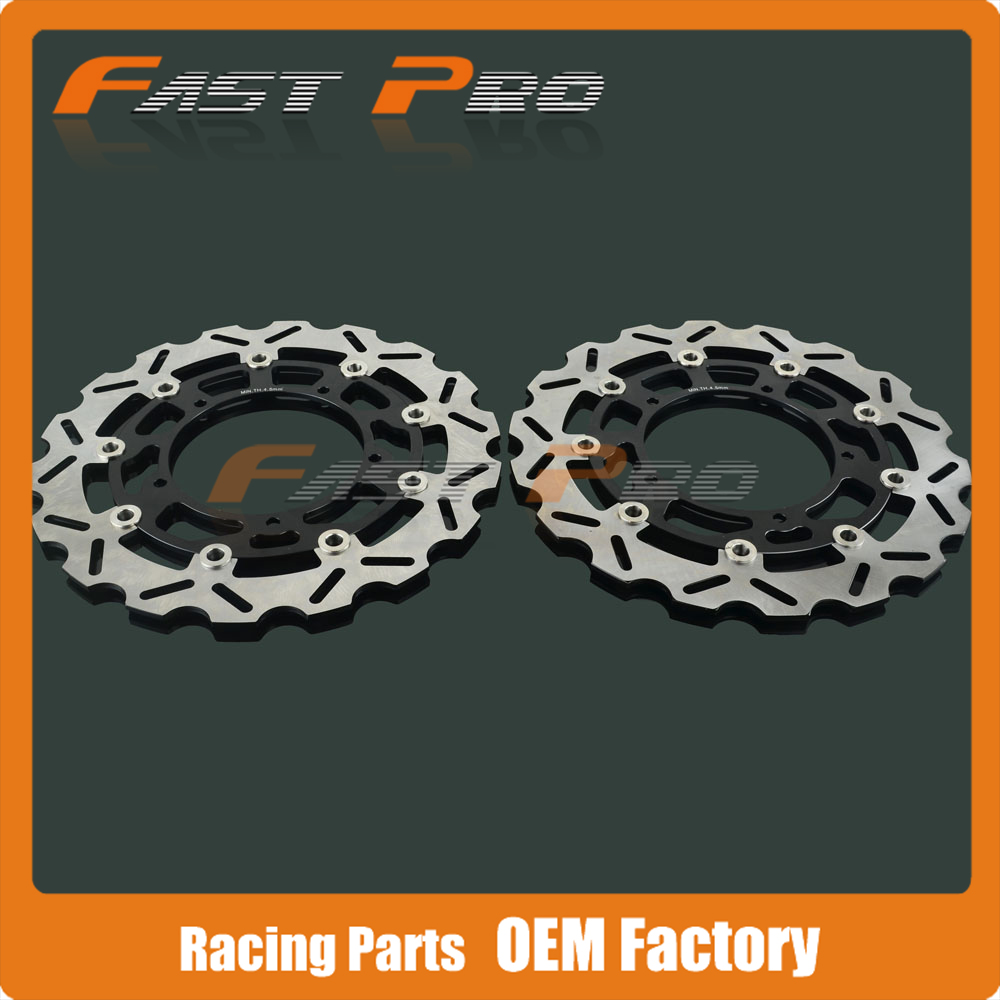 Front Floating Brake Disc Rotor For YAMAHA FZ1 FZ1-S FAZER 2006-2013 YZF R1 YZF-R1 2004 2005 2006 Motorcycle motorcycle part front rear brake disc rotor for yamaha yzf r6 2003 2004 2005 yzfr6 03 04 05 black color