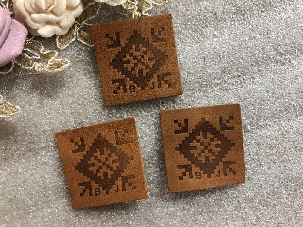 Dostosowane prawdziwe skórzane etykiety na dżinsy/torby/ubrania oryginalna etykieta ze skóry wytłoczonym/grawerowane logo w Metki odzieżowe od Dom i ogród na  Grupa 1