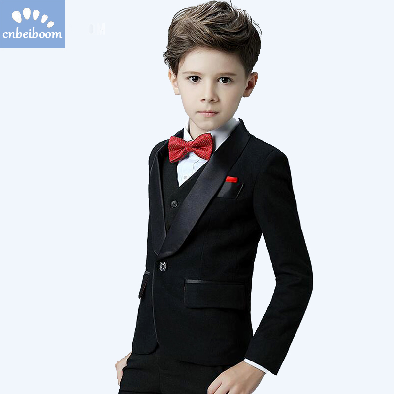 5pcs Sets Blazers Baby Boys Formal Clothing Kids 3-12T Jacket Pant ...