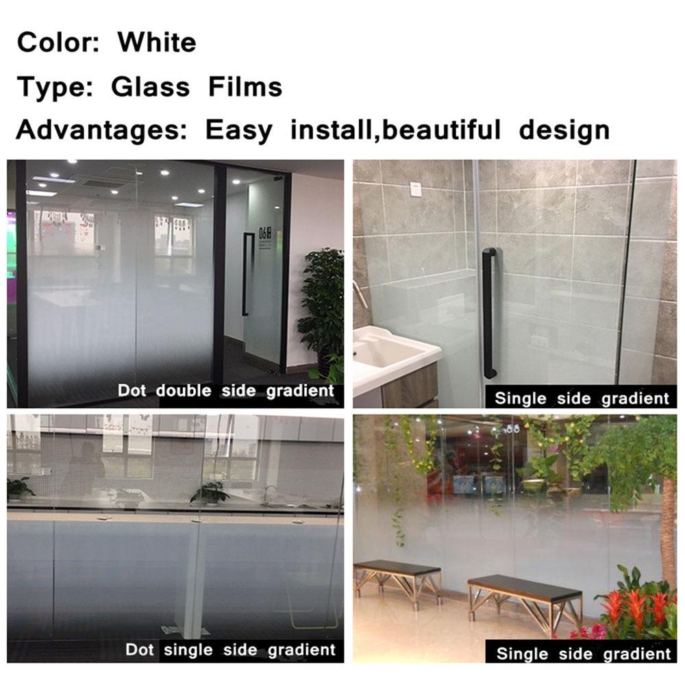 HOHOFILM blanc Dot deux-wayGradient Dot remplaçable bureau verre autocollant décoratif vinyle Opaque confidentialité Film de fenêtre 1.52x5 m rouleau