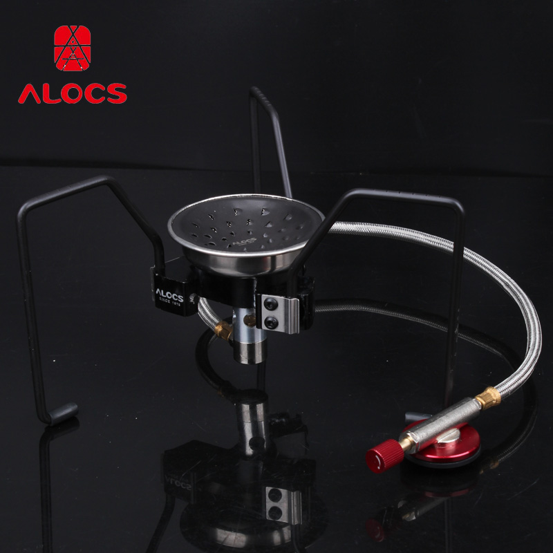 Alocs Black Spider Camping Folding Lightweight Stove  Portable BBQ Gas Furnace Cook Cookware cs-g18 чайник походный alocs love road off cw k04 alocs cw k04 pro
