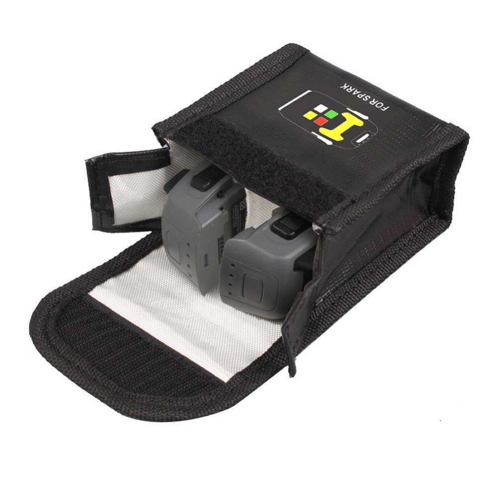 DJI Spark Батарея защиты сумка для хранения Spark Drone Интимные аксессуары может нести 2 Батарея взрывозащищенные безопасной сумка для хранения