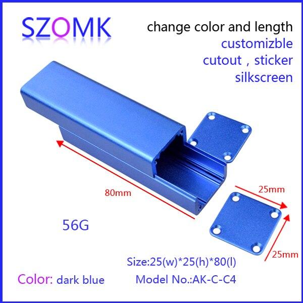 10 pieces a lot aluminum project box enclosure case aluminum extusion enclosure /electronic enclosure 26*26*80mm