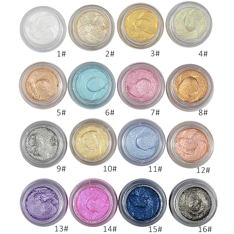 LOVE ALPHA 16 Colors Eye Shadow Professional Eyes Makeup Glitter Single Color Eyeshadow Gel Party Brand Cosmetics Flash Powder (25)